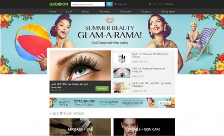 GROUPON Beauty Week - Extra 20 Off Beauty and Spa Deals Promo Code (July 27-28)