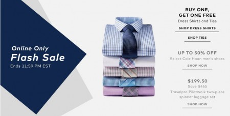 TheBay Flash Sale - BOGO Dress Shirts and Ties, Up to 50 Off Men's Shoes, 70 Off Luggage Set (July 8)