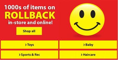Walmart 1000's of Items on Rollback
