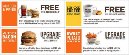 A&W Canada New Printable Coupons + Free Root Beer Coupon (Until Aug 30)
