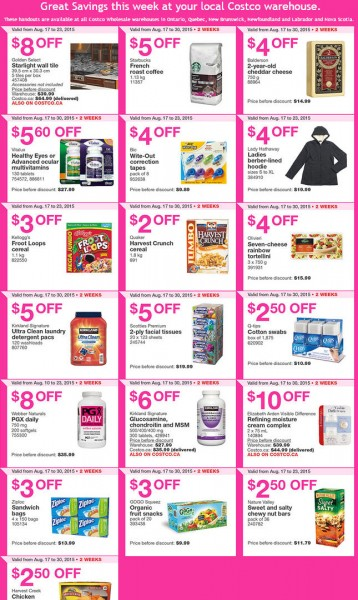 Costco Weekly Handout Instant Savings Coupons East (Aug 17-23)