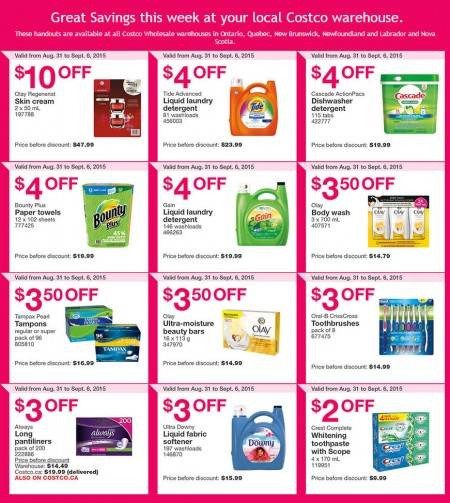 Costco Weekly Handout Instant Savings Coupons East (Aug 31 - Sept 6)