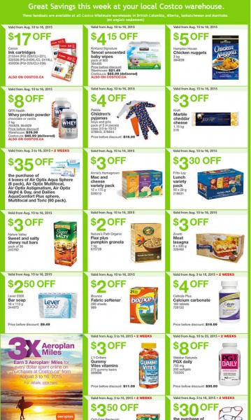 Costco Weekly Handout Instant Savings Coupons West (Aug 10-16)