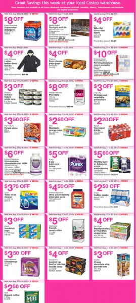 Costco Weekly Handout Instant Savings Coupons West (Aug 17-23)