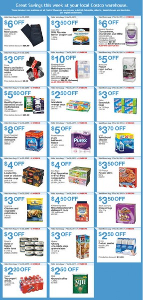 Costco Weekly Handout Instant Savings Coupons West (Aug 24-30)