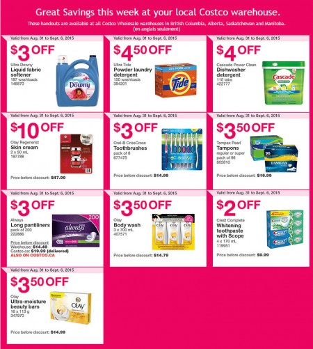 Costco Weekly Handout Instant Savings Coupons West (Aug 31 - Sept 6)