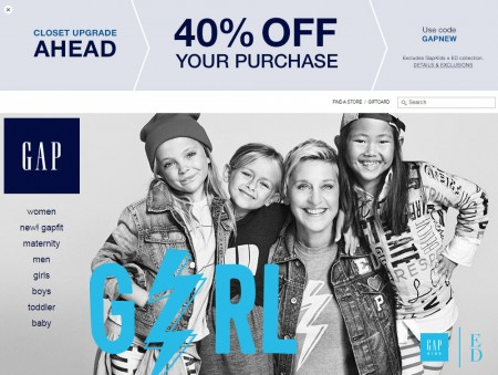 GAP 40 Off Your Entire Purchase Promo Code (Aug 22-23)
