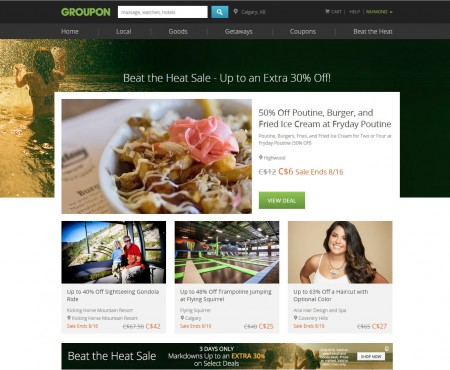 GROUPON Beat the Heat Sale - Up to an Extra 30 Off Local Deals (Aug 14-16)