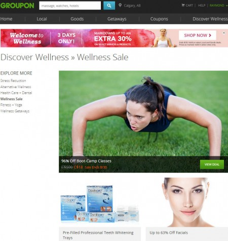 Groupon Wellness Sale - Markdowns up to an Extra 30 Off Select Deals (Aug 28-30)