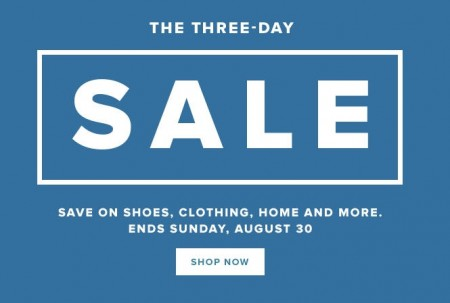 Hudson's Bay The Three-Day Sale (Aug 28-30) A