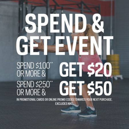 Sport Chek Spend & Get Event - Spend $100 Get $20 Gift Card, or Spend $250 Get $50 Gift Card (Aug 14-24)