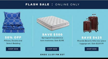 TheBay Flash Sale - 50 Off Pillows, Duvets and Select Bedding (Aug 5)