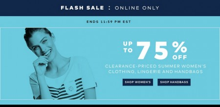 TheBay Flash Sale - Up to 75 Off Clearance-Priced Women`s Clothing, Lingerie and Handbags (Aug 19)