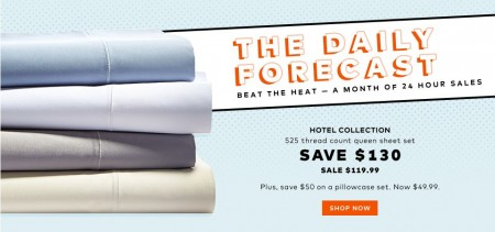 TheBay Today Only - $119.99 for Hotel Collection 525 Thread Count Queen Sheet Set - Save $130 (Aug 12)