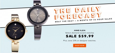 TheBay Today Only - 15 Off Designer Watches and $59.99 for Anne Klein Watches (Aug 11)