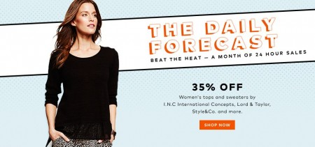 TheBay Today Only - 35 Off Women's Tops and Sweaters (Aug 27)