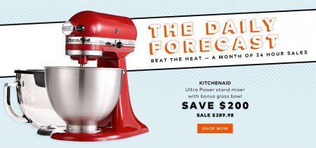 TheBay Today Only - Save $200 Off KitchenAid Stand Mixer with Bonus Glass Bowl (Aug 9)