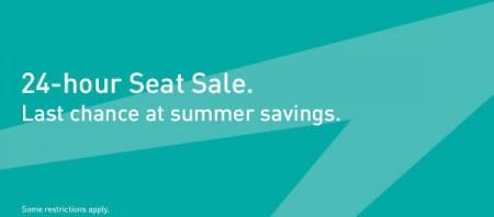 WestJet 24-Hour Seat Sale - Last Chance at Summer Savings (Aug 27)