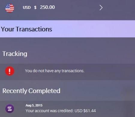 Zenbanx $250US Deposit