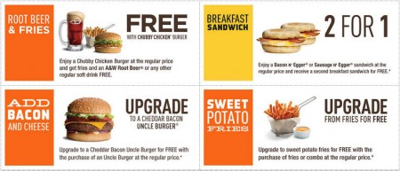 A&W Canada New Printable Coupons + Free Root Beer Coupon (Until Oct 11)