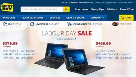 Best Buy Labour Day Sales