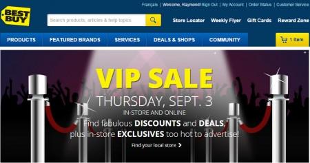 Best Buy VIP Sale (Sept 3)