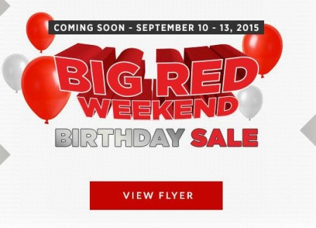Canadian Tire Big Red Weekend - Birthday Sale (Sept 10-13)