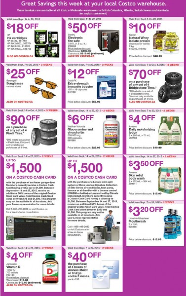 Costco Weekly Handout Instant Savings Coupons West (Sept 14-20)