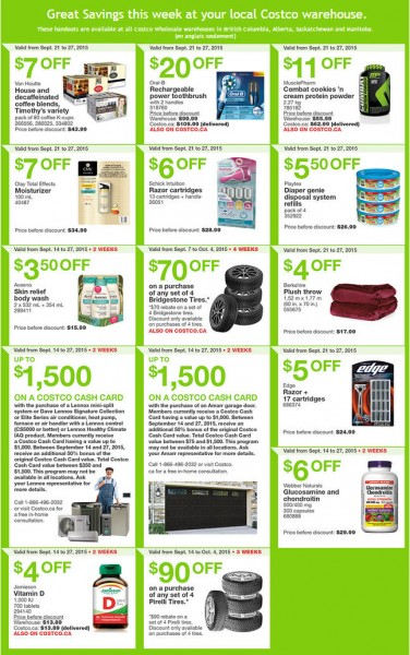 Costco Weekly Handout Instant Savings Coupons West (Sept 21-27)