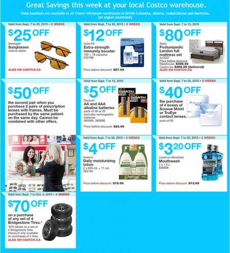 Costco Weekly Handout Instant Savings Coupons West (Sept 7-13)