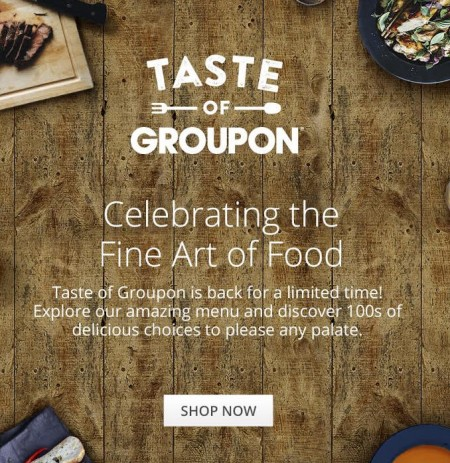 GROUPON Taste of Groupon - Up to 15 Off Local Food & Drink Deals (Sept 24)