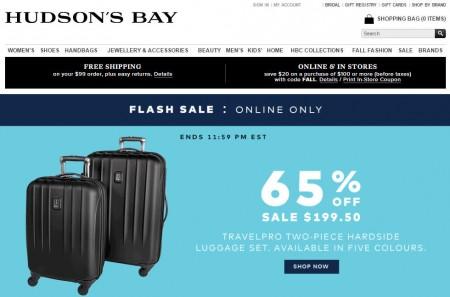 Hudson's Bay Flash Sale - 65 Off TravelPro 2-Piece Hardside Luggage Set (Sept 23)