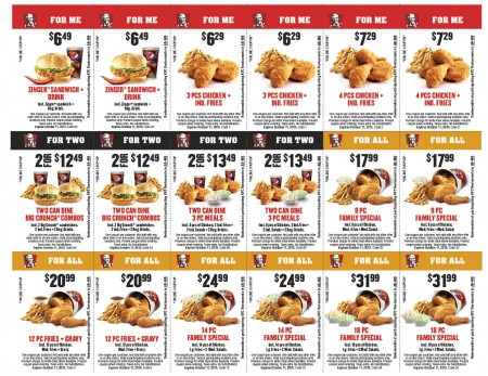 KFC New Fall Savings Coupons (Until Oct 11)
