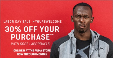 PUMA Labour Day Sale - 30 Off Your Purchase + Free Shipping