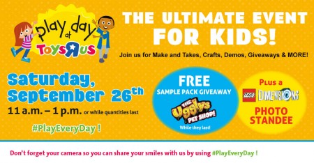 Toys R Us Free Play Day Family Event (Sept 26)