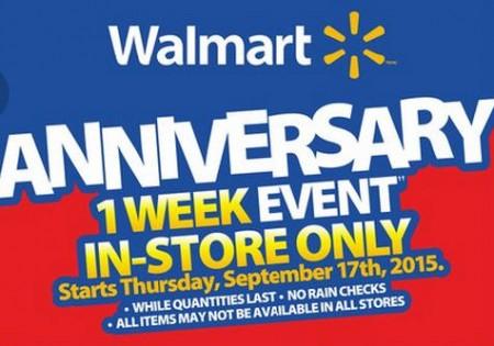 Walmart 1-Week Anniversary Event (Sept 17-23)