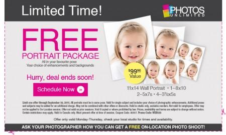 Walmart Portrait Studio FREE $100 Portrait Package Printable Coupon (Until Sept 30)