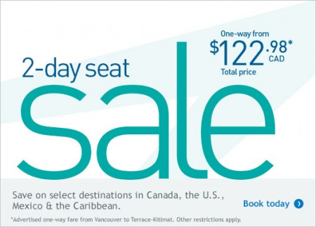 WestJet Two-Day Seat Sale (Sept 23-24)