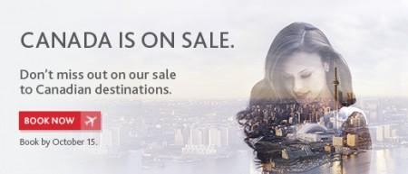 Air Canada Canada Sale (Book by Oct 15)