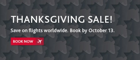 Air Canada Worldwide Thanksgiving Sale (Book by Oct 13)