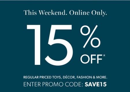 Chapters Indigo 15 Off Weekend Promo Code (Oct 9-12)