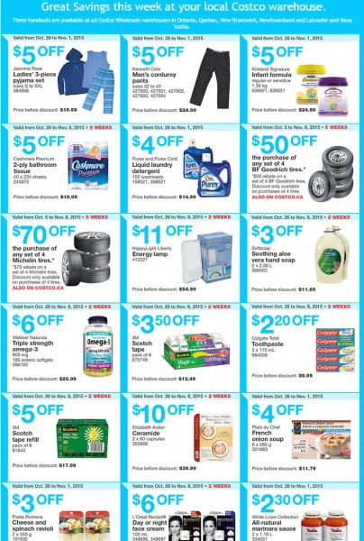 Costco Weekly Handout Instant Savings Coupons East (Oct 26 - Nov 1)