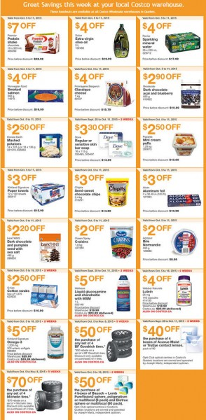 Costco Weekly Handout Instant Savings Coupons Quebec (Oct 5-11)