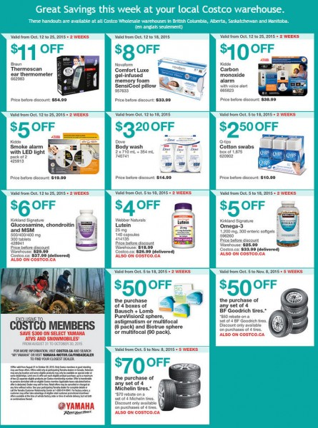 Costco Weekly Handout Instant Savings Coupons West (Oct 12-18)