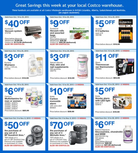 Costco Weekly Handout Instant Savings Coupons West (Oct 19-25)