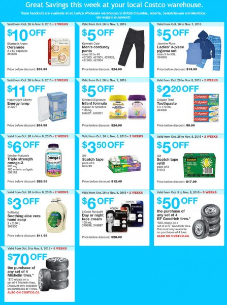 Costco Weekly Handout Instant Savings Coupons West (Oct 26 - Nov 1)
