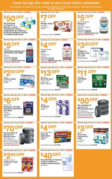 Costco Weekly Handout Instant Savings Coupons West (Oct 5-11)