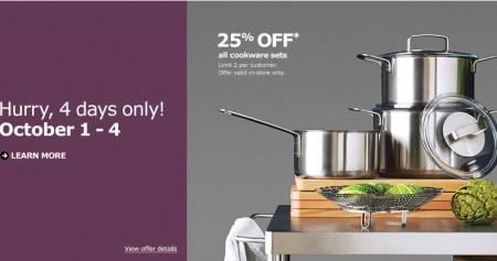 IKEA 25 Off All Cookware Sets (Oct 1-4)