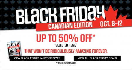 Sears Black Friday Canadian Edition - Save up to 50 Off Select Items (Oct 8-12)