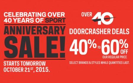 Sport Chek Anniversary Sale - Over 40 Doorcrasher Deals (Oct 21-27)
